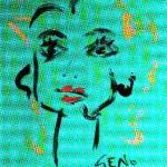 Huile sur toile de Geno Malkowski, une inconnue connue