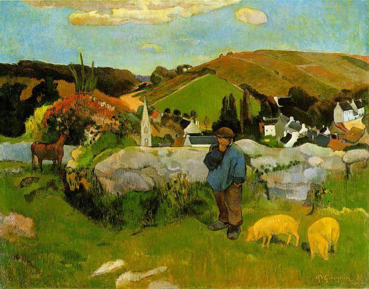 paul gauguin gardien de porcs en Bretagne