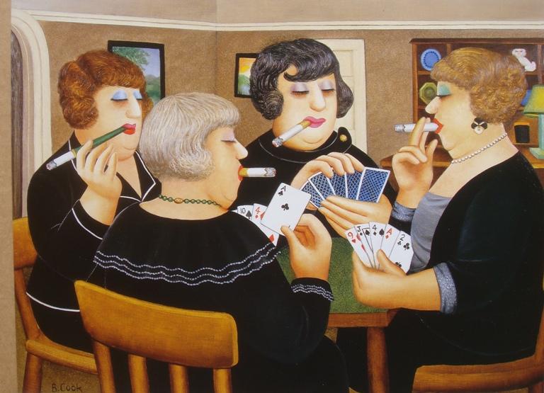 Beryl Cook_Bridge_Party