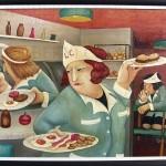 Beryl Cook-Cafeteria