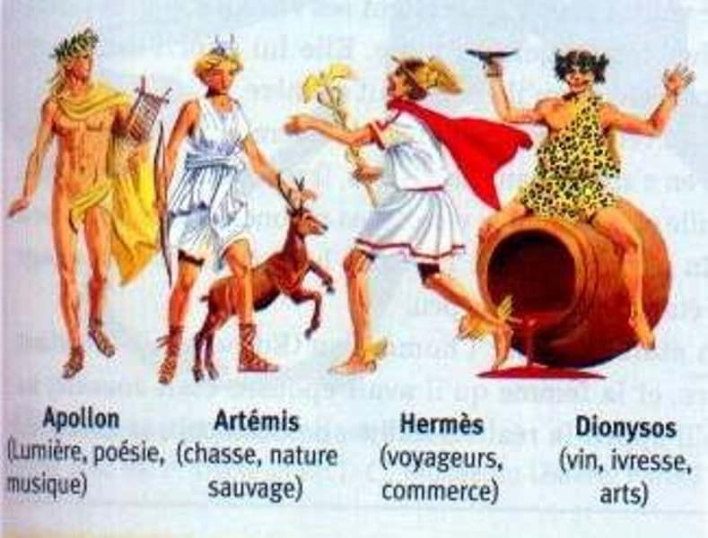 dieux grecs, mythologie