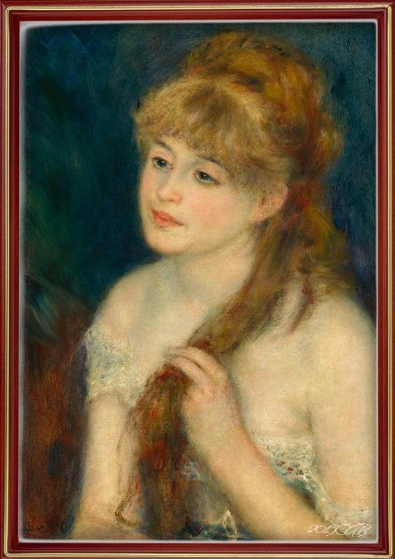RENOIR-Jeune-Femme-Tressant-Ses-Cheveux