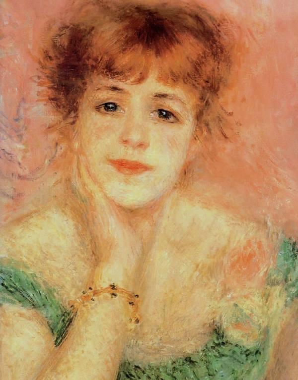 Portrait de l'actrice Jeanne Samary, 1877