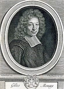Gilles Ménage avocat, grammairien, écrivian