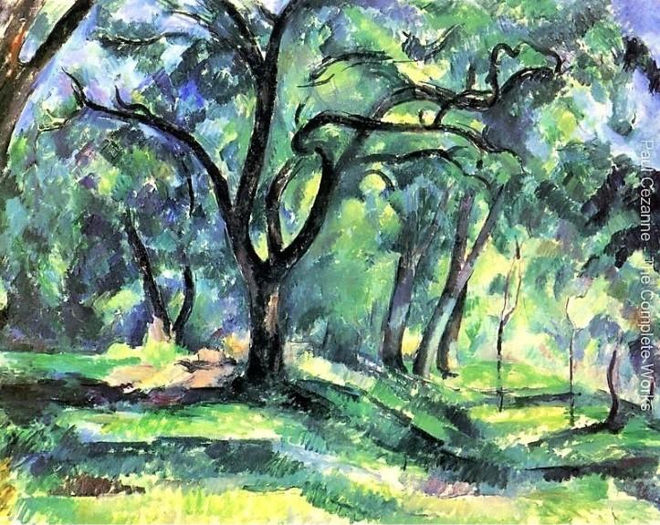 Cézanne forêt peinture