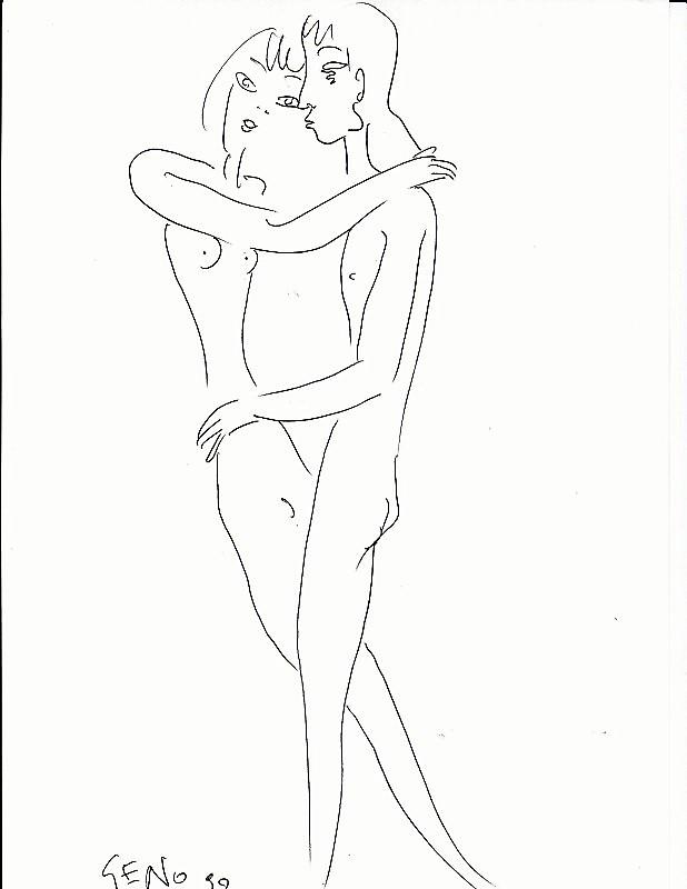 geno malkowski rysunek nous deux