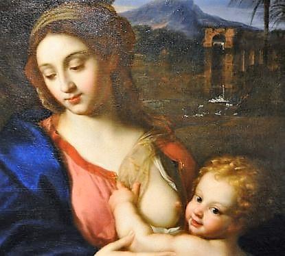 pierre mignard la vierge à l'enfant jésus avec le petit saint jean baptiste