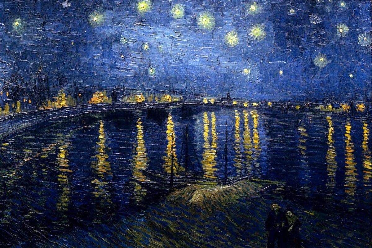 nuit éoilée sur le rhône van gogh